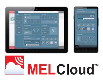 Встроенный Wi-Fi интерфейс. Удаленное управление реализуется через облачный сервер MELCloud